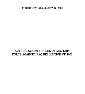 Auth Act Use Mil Power IRAQ Oct2002_cover_s.jpg